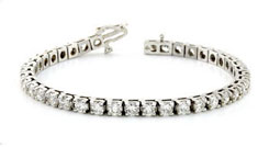 1 Carat Diamond Tennis Bracelet, 14K White Gold