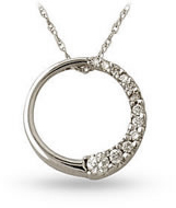 Circle of Life Diamond Journey Pendant, 14K White Gold (Pendants, Apples of Gold)