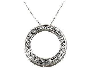 Buy Diamond Circle Pendant, 0.15 Carat, 10K White Gold