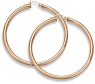 14K Rose Gold Hoop Earrings, 1 3/4