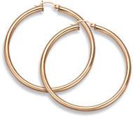 14K Rose Gold Hoop Earrings, 1 3/4