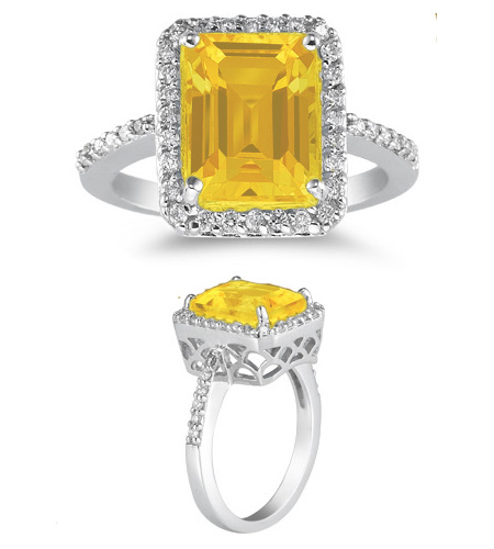 Buy 2.75 Carat Citrine and Diamond Cocktail Ring