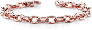 14K Rose Gold Link Connect Bracelet
