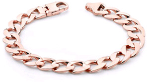 Men's 14K Rose Gold Curb Link Bracelet