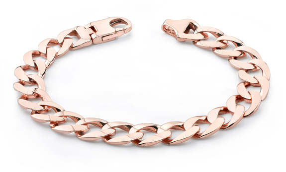 Buy 14K Rose Gold Curb Link Bracelet