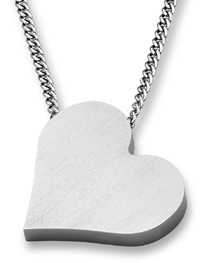 Titanium Heart Pendant Necklace
