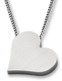 Titanium Heart Pendant Necklace