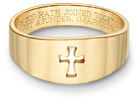 Romanesque Cross Bible Verse Ring