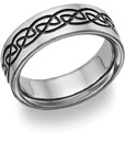 Black Titanium Celtic Wedding Band