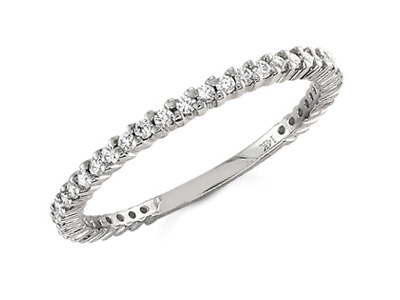 Diamond Eternity Band, 0.30 Carats, 14K White Gold