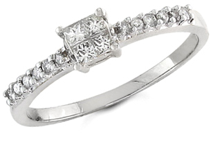 Buy 1/4 Carat Princess Cut Diamond Engagement Ring