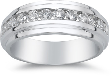 1.32 Carat Men's Twelve Stone Diamond Ring
