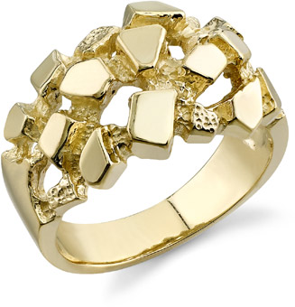 Buy 14K Gold Nugget Ring