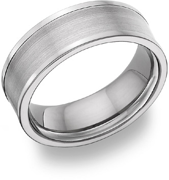 Titanium Brushed Wedding Band Ring