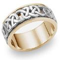 Caedmon 18K Two-Tone Gold Celtic Wedding Band Ring