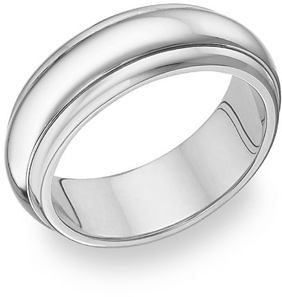 14K White Gold Wedding Bands - from 4mm - 8.5mm wide