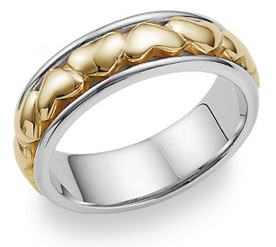 heart wedding band ring for women