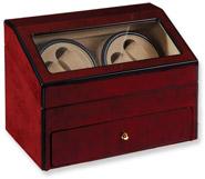 Double Burl Wood Automatic Watch Winder Case