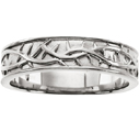 Crown of Thorns Band in 14K White Gold