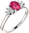 Swarovski Pure Pink Topaz Diamond Trinity Ring