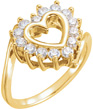 0.21 Carat Heart-Shaped Diamond Ring