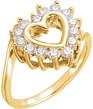 0.21 Carat Heart-Shaped Diamond Ring