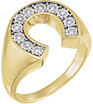 Men's 0.25 Carat Diamond Horseshoe Ring in 14K Gold
