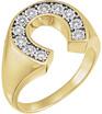 Men's 0.25 Carat Diamond Horseshoe Ring in 14K Gold