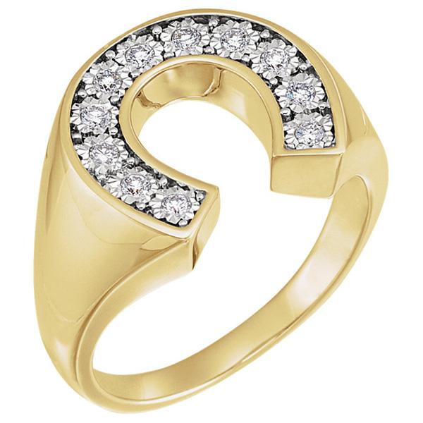 Horseshoe | Diamond | Ring | Gold | Men