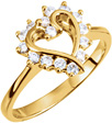 0.30 Carat Heart Halo Diamond Ring