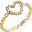 0.10 Carat Diamond Heart Ring in 14K Gold