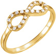 1/8 Carat Diamond Infinity Symbol Ring