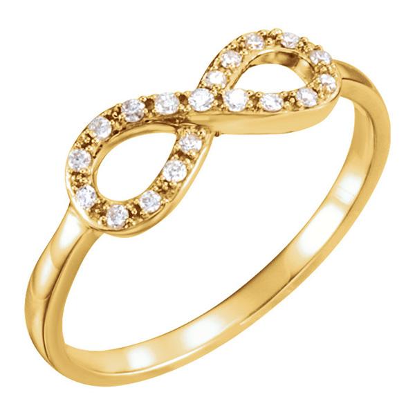 1/8 Carat Diamond Infinity Symbol Ring