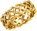 14K Gold Celtic Weave Wedding Band Ring