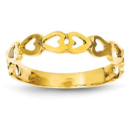 14K Gold Connected Cut-Out Heart Ring