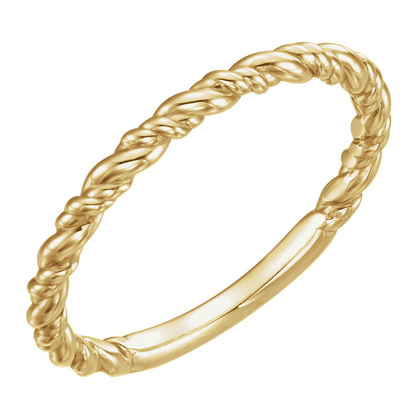 14K Gold Stackable Rope Ring