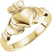 14K Gold Women's Claddagh Ring