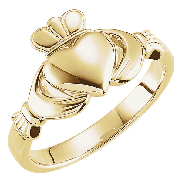 14K Gold Women's Claddagh Ring