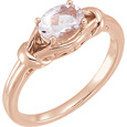 14K Rose Gold Morganite Knot Ring
