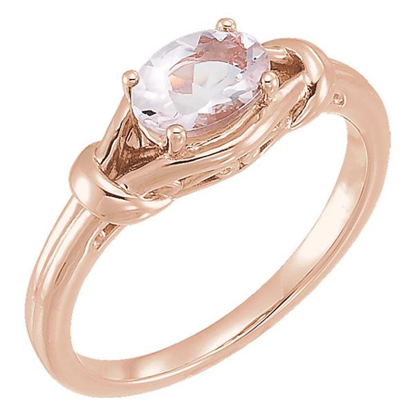 14K Rose Gold Morganite Knot Ring