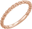 14K Rose Gold Stackable Rope Band