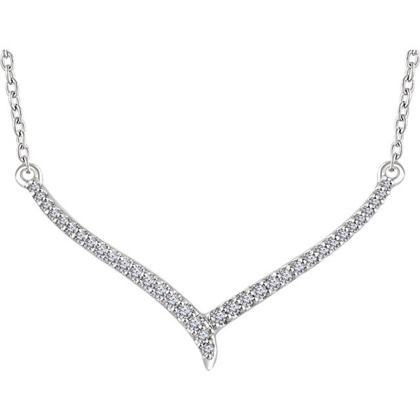 14K White Gold 1/6 Carat Diamond