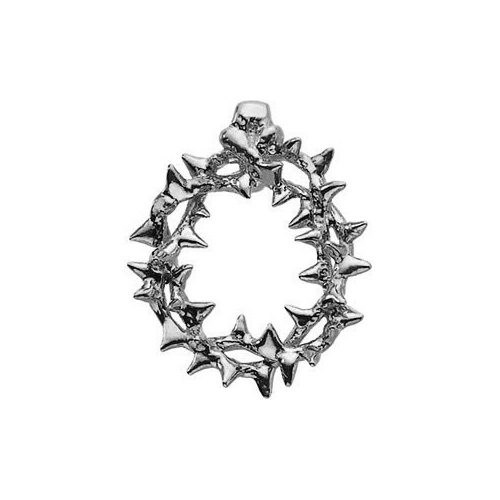 14K White Gold Crown of Thorns Pendant