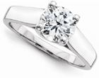2 Carat CZ Solitaire Engagement Ring, 14K White Gold