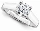 2 Carat White Topaz Engagement Ring