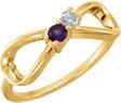 2-Stone Custom Gemstone Infinity Ring