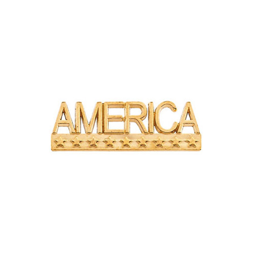 America Lapel Pin, 14K Gold