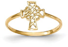 Celtic Cross Ring for Women in 14K Gold
