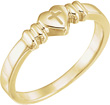 Chastity Cross Heart Ring in 14K Gold