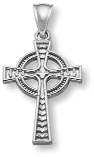 Women's 14K White Gold Celtic Cross Pendant